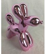 Metallic Pink Balloon Dog Figurine Bank  - $44.02