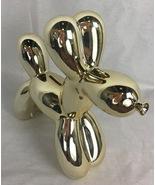 Metallic Gold Balloon Dog Mini Figurine Bank  - $25.06