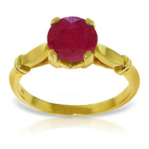 14K White Gold 2.0ct Ruby Solitaire Ring - £272.66 GBP