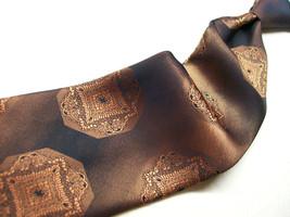 Vtg Wembley Metallic Copper Brown Emblems Mens 100   neck tie 619-6 - $6.92