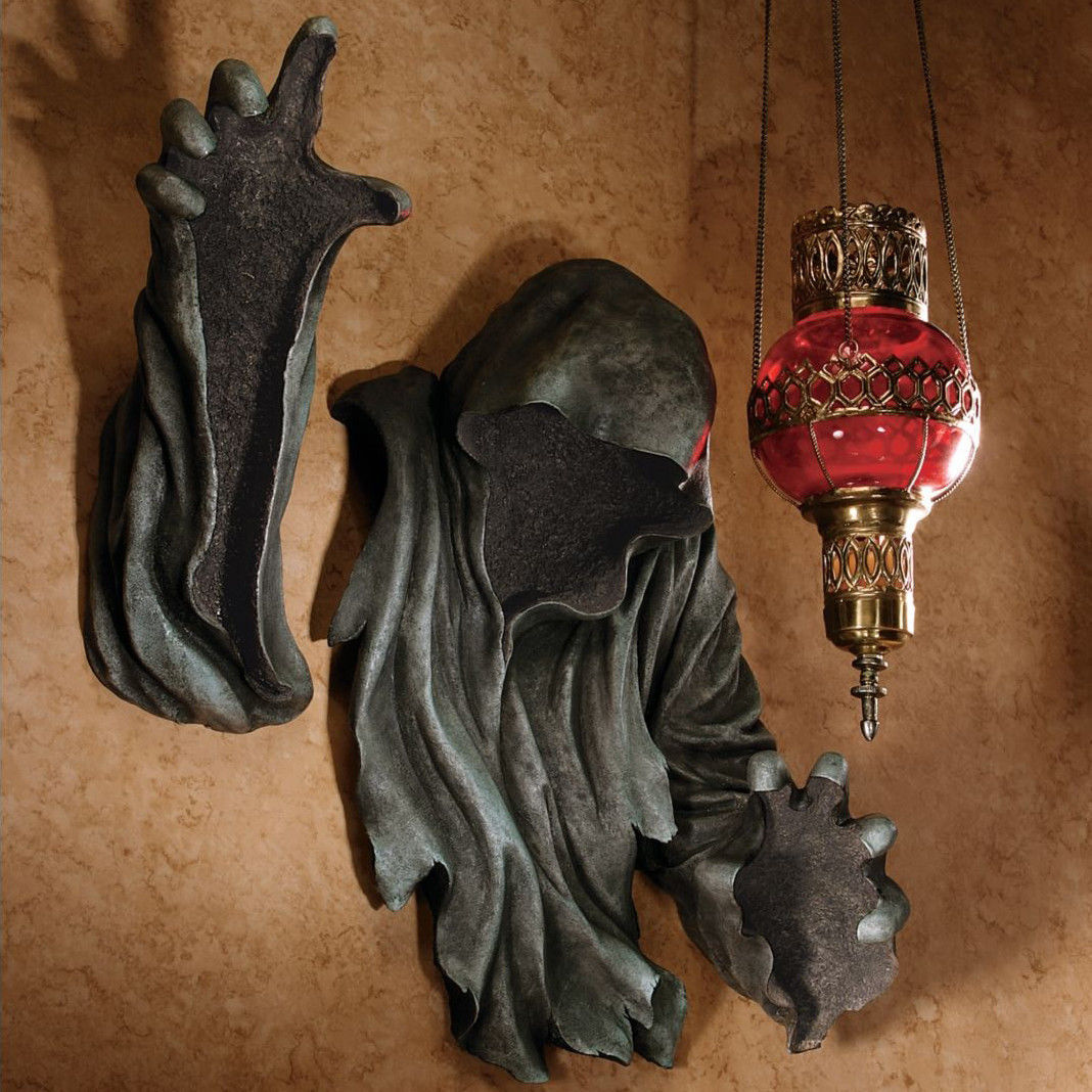 Grim Reaper Angel Of Death Wall Hanging Statue Scary