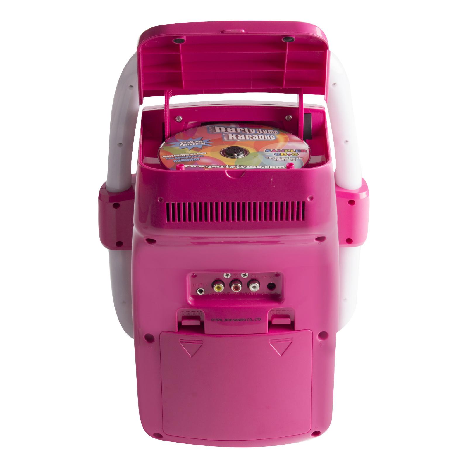 karaoke machine system kids sing songs microphone portable