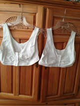 set of 2: White Crop Top size large by dream products  - $29.99