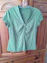 womens light green short sleeve top by george size medium - $20.00