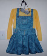 Girl's Size M Medium Minion Costume Dress with ... - $9.80
