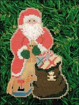Toy Bag Santa Olde Time Santa Ornament kit christmas perforated paper  - $5.40