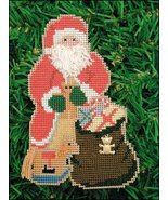 Toy Bag Santa Olde Time Santa Ornament kit chri... - $5.40