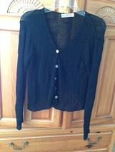 Womens Black Knit Top size small by Deborah James - $34.99