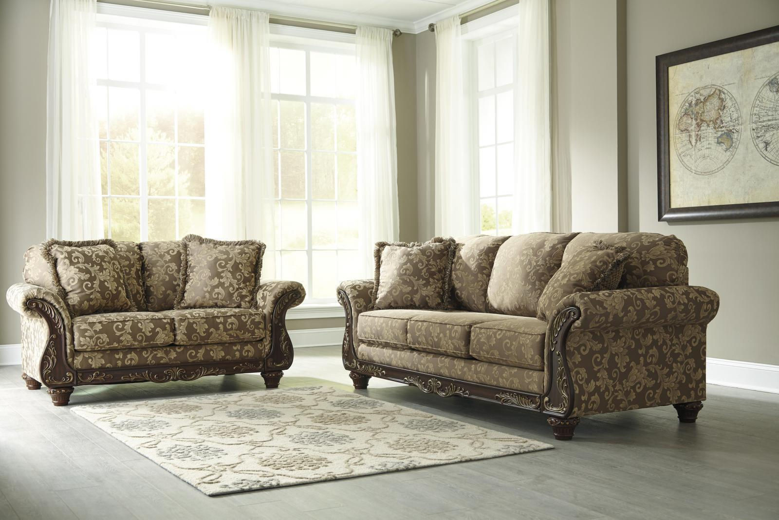 Ashley Irwindale Living Room Set 2pcs in Topaz Traditional Style