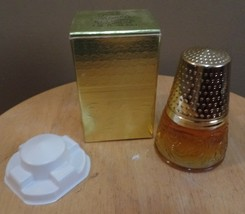 Vintage Avon Elusive Cologne in GOLDEN THIMBLE Decanter Bottle with Orig... - $15.00
