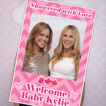 Showered With Love Baby Shower Custom Selfie Frame Social Media Frame Ph... - $16.34+