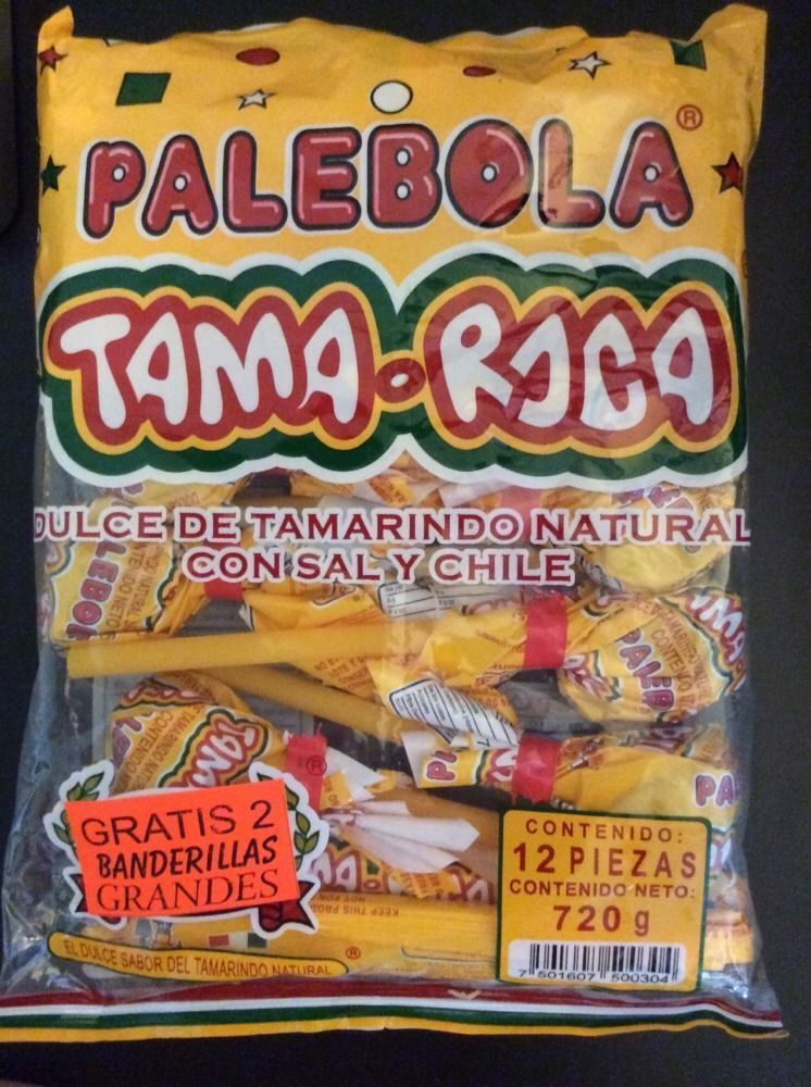 1X TAMA-ROCA ( Palebola - Tamarind Lollipops with salt and chili - Mexican candy