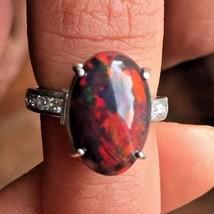 New Custom Chistick 5.45ct Ethiopian black welo opal Diamond & Platinum ... - $5,699.00