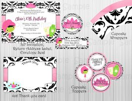 Spa Birthday/Baby Shower/Bridal Shower Party Package:Printable Invitatio... - $20.00