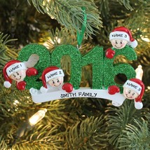 2016 Face Family Of 4 Personalized Christmas Tree Ornament Holiday Gift - $12.82