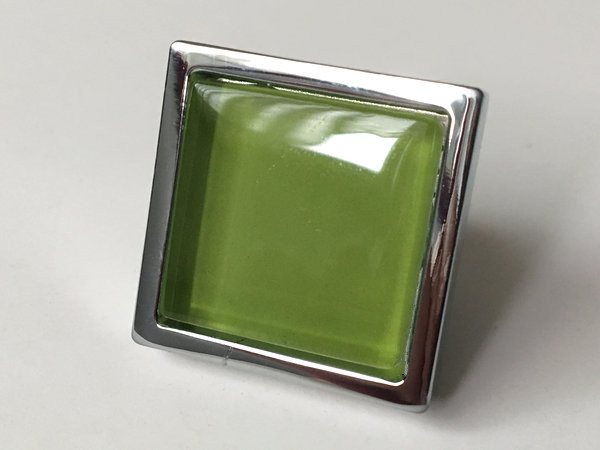 Green Glass Cabinet Knobs And Drawer Pulls: Green Glass Knobs Square Dresser Drawer Knobs Pulls