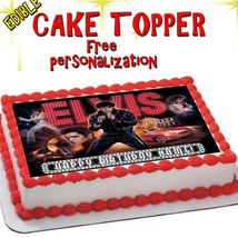 Personalized Elvis vegas edible cake toppers Birthday sugar paper pictur... - $12.00