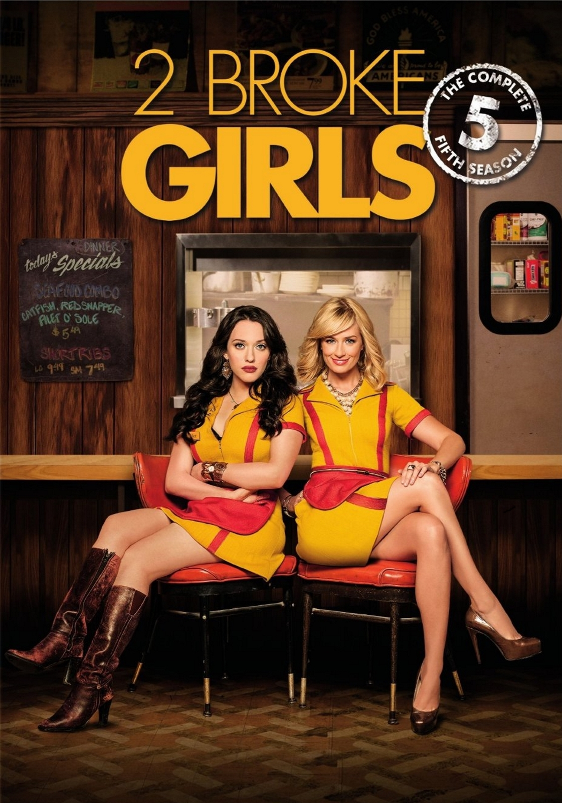2 Broke Girls The Complete Fifth Season Five 5 (DVD, 2016, 3-Disc Set) New