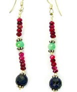 Natural Ruby and Emerald with Sapphire Orb Ster... - $78.49