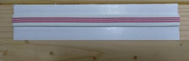 New Unisex Adidas Running, HEADBAND White Red Stripes One Size All Sports  - $6.00