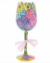 New Enesco Spring 2018  Wine Glass Designed by Lolita Hand Crafted - $26.72