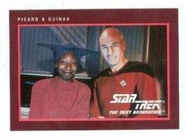 Star Trek The Next Generation card #292 Captain Picard and Guinan Whoopi... - $4.00