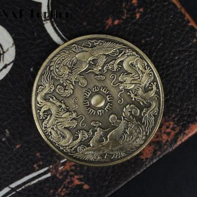 Primary image for Chinese Dragon And Phoenix Commemorative Coin Copper China Twin Bliss Good Fortu