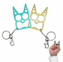 ANDERSE Sturdy Aluminum Key Chain,  2Pack for Women Girls