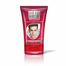 Emami Fair and Handsome 100% Oil Clear Instant Radiance Face Wash, 100g - $9.02