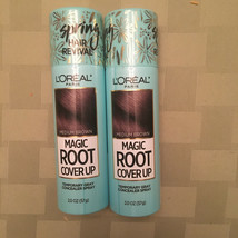 Lot of 2 L'OREAL Paris Root Cover Up Temporary Gray Concealer Spray Medium Brown - $14.01