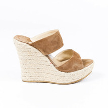 Jimmy Choo Poplar Espadrille Wedge Slide Sandals SZ 36.5 - $145.00