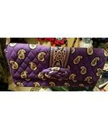 Vera Bradley SIMPLY VIOLET Knot Just A Clutch Shoulder Bag Handbag Purse... - $14.85