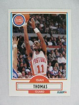 Isiah Thomas Detroit Pistons 1990 Fleer Basketball Card Number 61 - $0.98