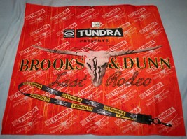 BROOKS & DUNN 2010 Last Rodeo Tour Lot BANDANA & LANYARD NECKLACE & HAT PIN - $9.88