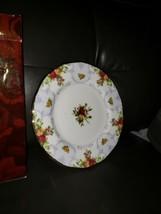 """Rose Cameo Violet Royal Albert Violet Salad Plate 8.25"""" Bone New Never Used - $27.71"""
