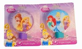 2  Disney Princess  Night Lights LED Rotate Shade Kids Bedroom Bathroom ... - $16.19