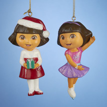 DORA the Explorer Ornaments Set of 2-By Kurt Adler - $8.99