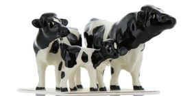 Hagen Renaker Miniature Holstein Bull, Cow and Calf Ceramic 3 Piece Figurine Set image 9