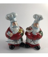 Holiday Santa Chef Salt & Pepper Set - $10.68 CAD