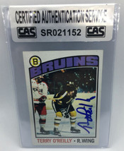 Terry O'Reilly 1976-77 Topps Autographed Hockey Card CAS - $10.88
