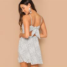 Cami Dress Women Sleeveless Black and White Backless Knot image 4