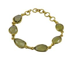 comely Lemon Quartz Gold Plated Yellow Bracelet Natural indian US gift - $17.86