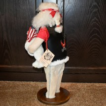 "Handcrafted ""Big Nick"" Biker Santa Claus Father Christmas Signed 24"" Cloth Doll image 2"