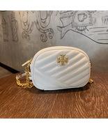 TORY BURCH Kira Chevron Small Camera Crosbody Shoulder Bag White Authentic - $278.00