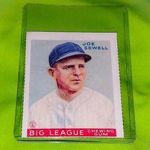VINTAGE MLB JOE SEWELL YANKEES HOF 1978 BERT SUGAR GOUDEY REPRINT #165 - $1.00