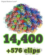 The Original Rainbow Loom® REFILL BANDS 24 PACK (14,400 pcs) & Clips ~NEW~ - $99.99