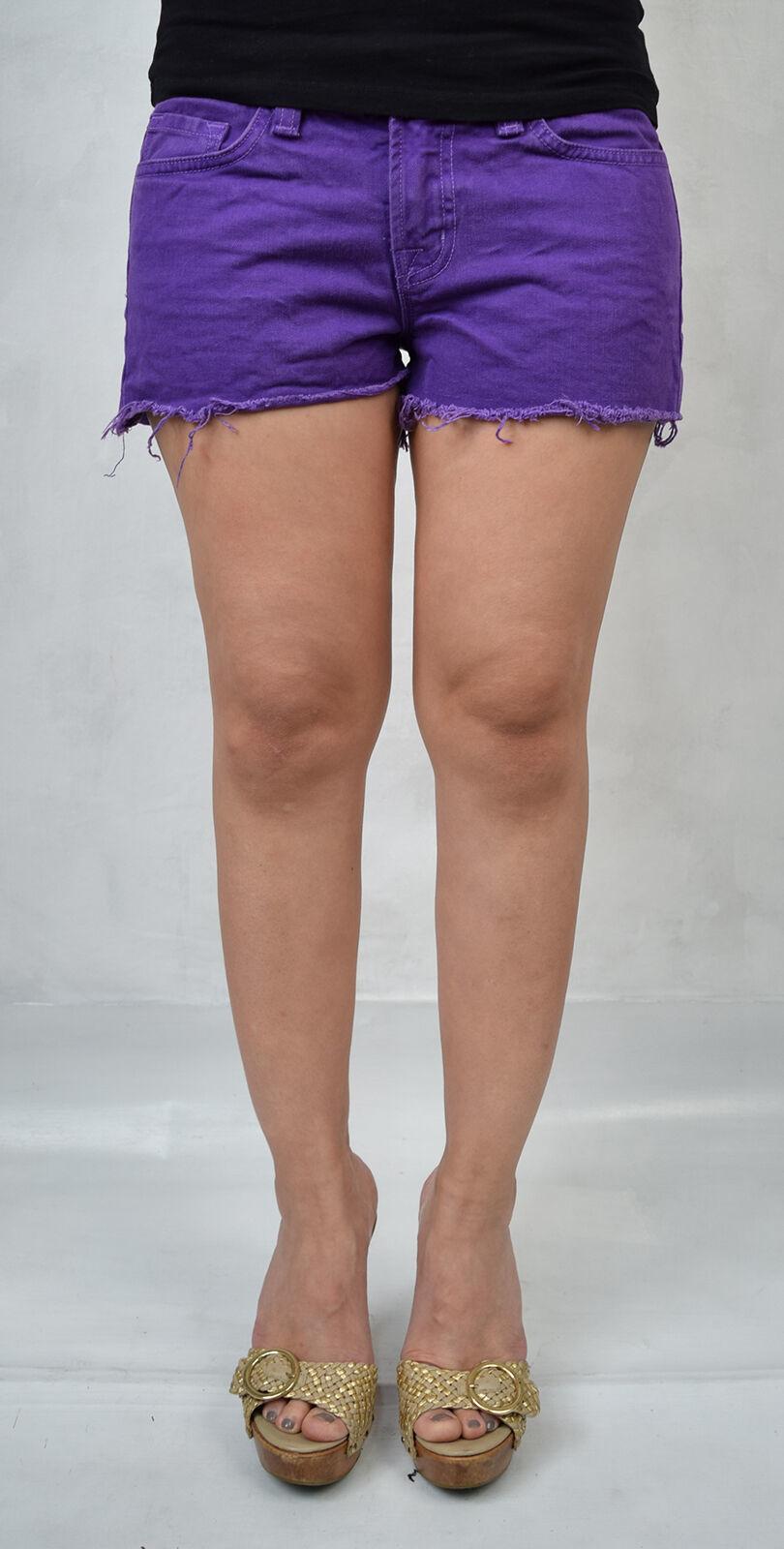 J Brand 7037 Bright Purple Cut Off Short Jeans 26 Womens USA
