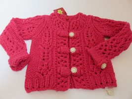 Boutique Oilily Girls Crochet Sweater NWT size 128 US 7-8 $218 - $104.89