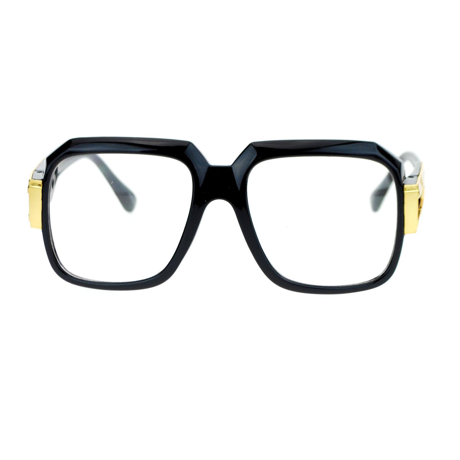 Hip Retro Clear Lens Glasses Oversized Square Fashion Eyeglasses