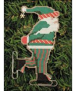 Skater Santa Olde Time Santa Ornament kit christmas perforated paper  - $5.40
